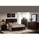Acme Ishaan Platform Bedroom Set with Sleek Frame in Dark Merlot