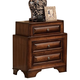 ACME Konane Nightstand with Curved Beveled Front Panels in Brown Cherry 20456