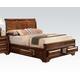 Acme Konane King Sleigh Bed with Underbed Storage in Brown Cherry 20444EK