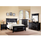 Acme Merivale Panel Bedroom Set with Louvered Details in Black