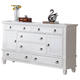 ACME Merivale Dresser with Louvered Details in White 22425