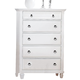 ACME Merivale Chest with Jewelry Tray Drawer in White 22426