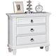 ACME Merivale Two Drawer Nightstand with Louvered Details in White 22423