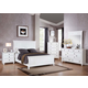 Acme Merivale Panel Bedroom Set with Louvered Details in White