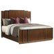 Lexington Tower Place Fairmont Panel King Bed in Walnut Brown Arlington Finish 01-0706-134C