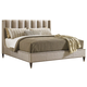 Lexington Tower Place Barrington Upholstered Platform Queen Bed in Walnut Brown Arlington Finish 01-0706-143C
