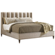 Lexington Tower Place Barrington Upholstered Platform King Bed in Walnut Brown Arlington Finish 01-0706-144C