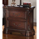 Acme Quenisha Traditional Two Drawer Nightstand in Cherry/Dark Brown 20703