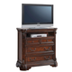 Acme Quenisha Elegant TV Console with Open Compartment in Cherry/Dark Brown 20707