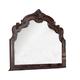 Acme Quenisha Grandiose Dresser Top Mirror in Cherry/Dark Brown 20704