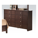 Acme Racie Contemporary Dresser with Decorative Hardware in Dark Merlot 21945