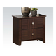 Acme Racie Contemporary Nightstand with Two Drawers in Dark Merlot 21943