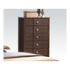 Acme Racie Contemporary Five Drawer Chest  with Decorative Hardware in Dark Merlot 21946