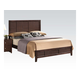 Acme Racie King Panel Bed with Contemporary Styling in Dark Merlot 21937EK