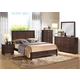Acme Racie Panel Bedroom Set with Contemporary Styling in Dark Merlot
