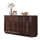Acme Travell Modern Six Drawer Dresser in Walnut 20525