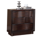 Acme Travell Modern-Contemporary Three Drawer Nightstand in Walnut 20523