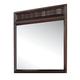 Acme Travell Modern Dresser Mirror with Beveled Edge Details in Walnut 20524