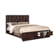 Acme Travell Queen Storage Footboard Bed in Walnut 20520Q