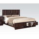 Acme Travell California King Storage Footboard Bed in Walnut 20514CK