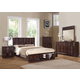 Acme Travell Storage Footboard Bedroom Set in Walnut