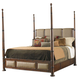 Tommy Bahama Home Landara Monarch Bay Queen Poster Bed in Rich Tobacco Finish 01-0545-173C