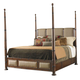 Tommy Bahama Home Landara Monarch Bay Poster California King Bed in Rich Tobacco Finish 01-0545-175C