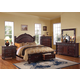 Acme Vevila Traditional Storage Footboard Bedroom Set in Cherry Brown