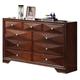 Acme Windsor Contemporary Dresser in Merlot 21925