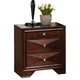 Acme Windsor Contemporary Three Drawer Nightstand in Merlot 21923