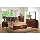 Acme Windsor With Black PU Inserts Bedroom Set in Merlot