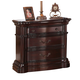 Acme Veradisia Nightstand with Shaped Mouldings in Dark Cherry 20634