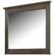Juararo Vintage Bedroom Mirror in Dark Brown B251-36