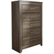 Juararo Five Drawer Chest in Dark Brown B251-46