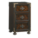 Tommy Bahama Home Island Traditions Gramercy Nightstand in Warm Aged Brass Finish 01-0548-623