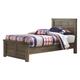 Juararo Contemporary Twin Panel Bed in Dark Brown