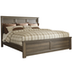 Juararo Contemporary Full Panel Bed in Dark Brown