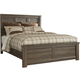 Juararo Contemporary Queen Panel Bed in Dark Brown CLEARANCE