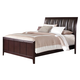 Coaster Coventry California King Upholstered Sleigh Bed in Dark Brown B180KW