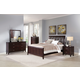 Coaster Coventry Upholstered Sleigh Bedroom Set in Dark Brown