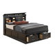 Coaster Louis Philippe King Storage Bed in Black 201079KE