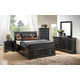 Coaster Louis Philippe 4-Piece Storage Bedroom Set in Black