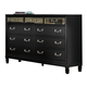 Coaster Devine 9-Drawer Dresser in Black 203123