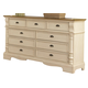 Coaster Oleta 9-Drawer Dresser in Butttermilk 202883