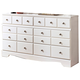Weeki Contemporary Dresser in Modern White B270-31