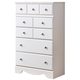 Weeki Five Drawer Chest in Modern White B270-46