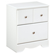 Weeki Two Drawer Nightstand in Modern White B270-92