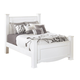 Weeki Contemporary Queen Poster Bed in Modern White
