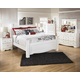 Weeki 4pc Poster Bedroom Set in Modern White
