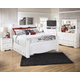 Weeki 4pc Poster Storage Bedroom Set in Modern White